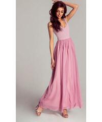 37a66363cf5a IVON dlouhé šaty MM-121748 růžová