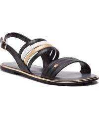 Sandále TOMMY HILFIGER - Strappy Flat Sandal FW0FW03667 Black 990 2970e4c1d49