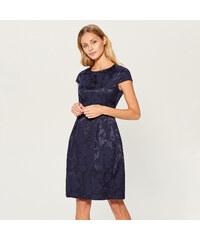 d0465025a9a Mohito - Žakárové šaty s krátkými rukávy - Modrá