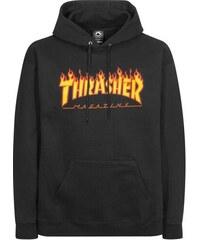 Pánská mikina Thrasher Flame Hood black 9480f57e43c