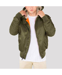 Pánska bunda Alpha Industries MA-1 Hooded Jacket Dark Green 0f8ce187aee