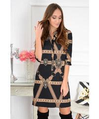 3401d62e6b8e La blanche Čierno-béžové šaty Angie CO-41136