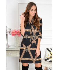 b8b5adeb0177 La blanche Čierno-béžové šaty Angie CO-41136