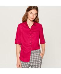 62a4404bf782 Mohito - Košeľa s vyhrnutými manžetami - Červená