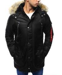 Manstyle Pánská bunda zimní černá edab0073520