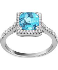 iZlato Forever Strieborný prsteň s modrým a čírymi zirkónmi IS2785M d58ddcd3eb5