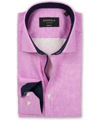 STEVULA Ružová košeľa s bielym vzorom bf5b2d0c209