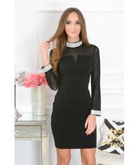 9951621cae9c PLANETA-MODY Čierne šaty so štrasom Chantal CO-41514