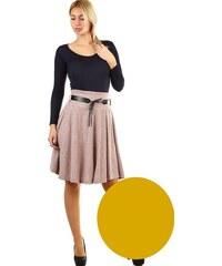 606b6b31ef24 Glara Zimná áčková sukňa žíkaný vzor