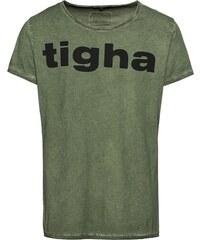 01488f9b2f Tigha Tričko  Logo Vintage MSN  olivová   černá