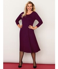 0c2cb2b2939d Venca Jednobarevné rozšířené šaty fialová