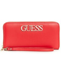 GUESS peňaženka Felix Large Zip-Around Wallet červená 0fd6caea170