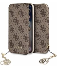 Pouzdro Guess Charms Book Case 4G Brown pro iPhone XS Max 9c44b7672f1
