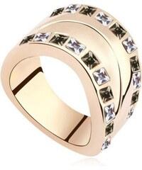 Gold Silver made with Crystals from Swarovski Pozlacený prsten s krystaly  Swarovski Josephine 75c1cacfb7a