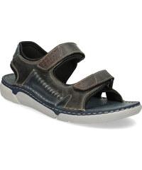 c00a25d3b40b Weinbrenner Kožené pánske sandále čierno-modré