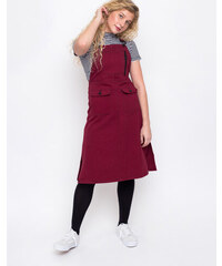 Lazy Oaf Contrast Stitch Pinafore Red c2edcc0030