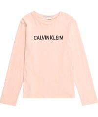 Calvin Klein Jeans Tričko  LOGO REGULAR LS TEE  broskvová 198567c753