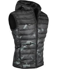 9ac255745551 Pánská camo vesta s kapucí