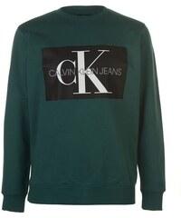 581ad6a8ab Mikina Calvin Klein Jeans Mono Crew Sweater Zelená