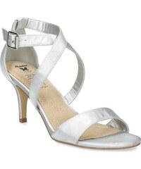 c794f0a0010f Insolia Strieborné sandále na ihličkovom podpätku