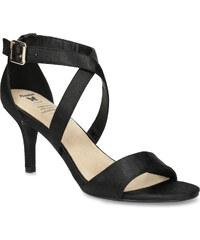 06f1477611 Insolia Čierne sandále na ihličkovom podpätku