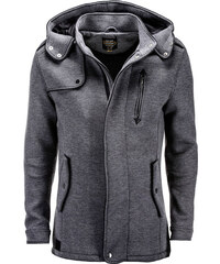 Ombre Clothing Pánsky kabát Raylan grafitový cbec1efee05