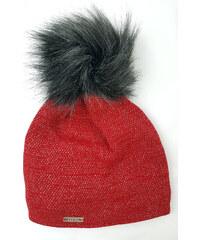 Dámská zimní čepice červená elison 3fe5c04077