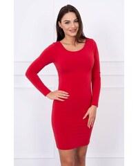 MladaModa Obtiahnuté šaty s odhaleným chrbátom model 5025 červené 031e24c204