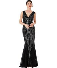 c78503cf6a3 Laura Scott Evening Dlouhé společenské šaty černé - Glami.cz