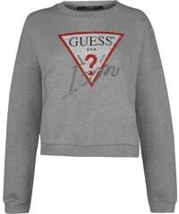 Dámská mikina Guess Icon Fleece Sweater Šedá 488c06f04b4
