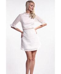 2fc731e61426 iné Biele háčkované mini šaty
