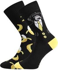 Lonka Černé pánské ponožky OPICE S BANÁNY 2832f07574