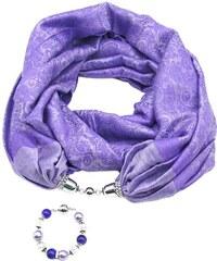 e54af16e323 Hezká fialová šála z kvalitní pašmíny