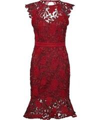Lipsy Koktejlové šaty  RED AO LACE DRESS(KATE MOVE ON)  rubínově červená a32090d00b6