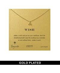 Dogeared - Teeny - Vergoldete Halskette mit Wünschelrutenanhänger - Gold