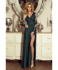 EMO Tmavozelené šaty Luna 5b80858aa4f