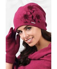 46587f69e Luxusná dámska elegantná čiapka na zimu so štýlovými kvetmi Kamea Teramo
