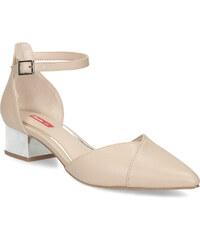 ffe0b003214b Bata Red Label Béžové sandále do špičky na striebornom podpätku