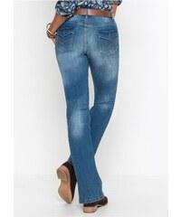 bonprix Strečové džíny s páskem BOOTCUT e59e99e1f5