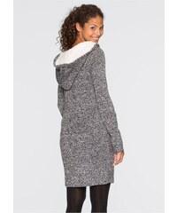 0865410520f2 bonprix Pletené šaty s kapucí s podšívkou