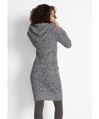 bonprix Pletené šaty s kapucí a8beeafe65