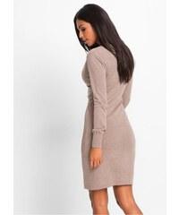 7edfe4db9ba bonprix Pletené šaty se štrasovou aplikací