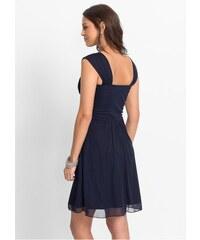 bonprix Koktejlové šaty ze síťoviny a žerzeje d64b2210810
