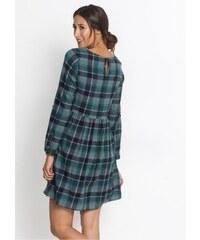 bonprix Flanelové šaty s dlouhým rukávem 25b1f2af62