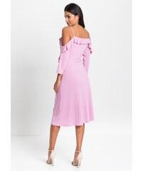Růžové maxi zlevněné šaty - Glami.cz addfa638a50