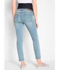 8cb1b48a2f3c bonprix Těhotenské džíny v 7 8 délce s výšivkou Skinny