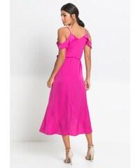 Růžové dlouhé zlevněné šaty - Glami.cz 800e9f06b04