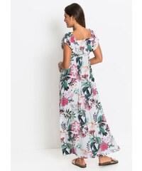 bonprix Dlouhé šaty s květinovým potiskem ee3b1ab6c4
