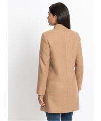 bonprix Vlněný kabát s volánem 38cb1fc7ee