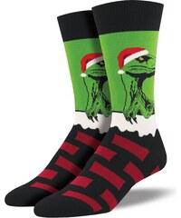 SOCKSMITH zelené vánoční ponožky RAPTOR CLAUS PÁNSKÉ 2b57d27324